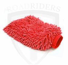 Microfiber Double Sided Car Cleaning Cloth Gloves (RED)