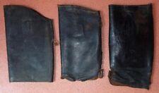 Lot de 3 parties hautes de bottes en cuir noir pour restaurations/réparations