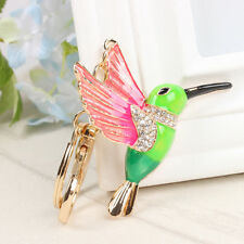 Lovely Woodpecker Bird Charm Pendant Crystal Purse Bag Car Key Chain Accessories