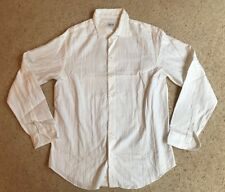 ARMANI, Classic White Textured Stripe Casual Shirt, Size L, NEVER WORN RRP £150