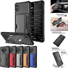 for iPhone 11pro max 12 XS Max XR 7 8 Case Cover Magnetic Leather Wallet Cards
