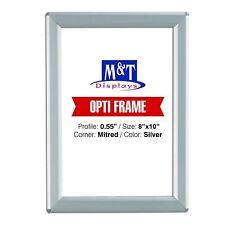 """Snap 8x10 Frame, 0.55"""" Silver Profile, Mitered Corner, Back Support, Opti Frame"""