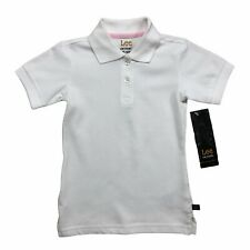 Lee School Girls Uniform White Polo Shirts 2-Pack of Size Xs (4/5) Brand New