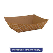 SCT Paper Food Baskets Brown/White Check 1/2 lb Capacity 1000/Carton 0509