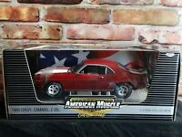 ERTL American Muscle 1969 Chevy Camaro Z-28 1/2500 1:18 Scale Diecast Model Car