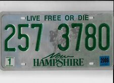 "NEW HAMPSHIRE passenger 2009 license plate ""257 3780"" ****NATURAL****"