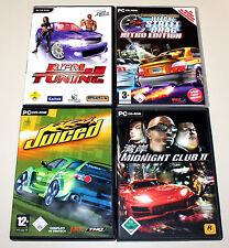 4 STREET RACING SPIELE PC - MIDNIGHT CLUB RPM TUNING JUICED ILLEGAL STREET DRAG