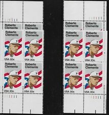 US Scott #2097, Plate Blocks #111111 1984 Clemente 20c FVF MNH All 4 Corners