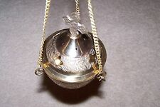 Cross Carved Hanging Brass Censer burner incense home altar vestment church