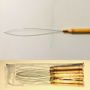 HAIR EXTENSION Micro Ring Bead Pulling Needle Loop Threader Tool  qty 10