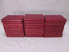1901 University Society Shakespeare Collection 33 Books Red Hardcover NICE!!