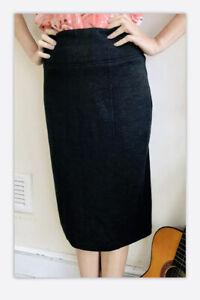 £195 Thick 100% Wool Skirt L.k.Bennett Midi Pencil Classic Grey Size 10