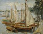 Max Liebermann Sailing Boats At The Wannsee Canvas Print 16 x 20          #3556