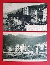 2 x AK ABBAZIA in Kroatien 1905/06 Quarnero Hotel, Madonna und Slatina   ( 20671