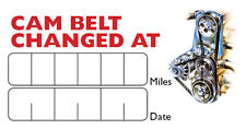 Cam Belt Cambelt Change Service  Stickers  Self Adhesive 120 Labels 64mm x 34mm
