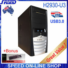 SPEED H2930-U3 Mid-Tower USB3.0 Computer PC Case + Bonus Slim Keyboard