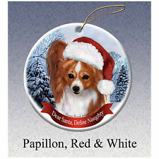 Papillon Continental Toy Spaniel Dog Unfinished Wood Christmas Tree Ornament