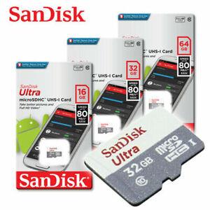 SanDisk Ultra New 16GB 32GB 64GB micro SDHC SDXC C10 TF Memory Card + ADAPTER