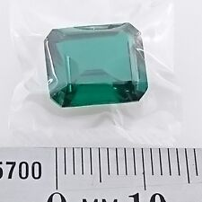 EMERALD GREEN Synthetic Green Spinel x1 - Emerald cut - 12 x 10mm - FREE POST