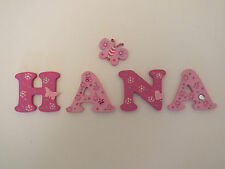 """2"""" Decorated Wooden Capital Letters """"Free Postage"""" Great for door/Toy Box"""
