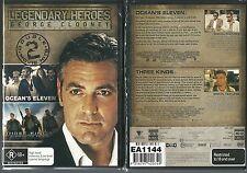 THREE KINGS + OCEANS ELEVEN FANTASTIC GEORGE CLOONEY DOUBLE MOVIE 2 DVD SET