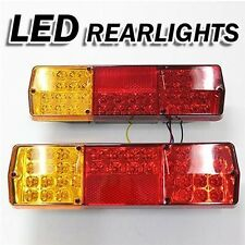 Led Rear Tail Lights Truck Lorry Trailer Tipper Caravan Chassis 12 24v Set Of 2