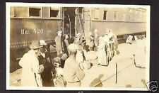 RUSSIA VLADIVOSTOK 1917 USA REAL PHOTO TRAIN PETERSBURG