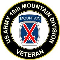 """Army 10th Mountain Division Veteran 5.5"""" Sticker 'Officially Licensed'"""