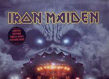 """IRON MAIDEN """"Rock in Rio"""" 3 LP PICTURE DISC estremamente rare"""
