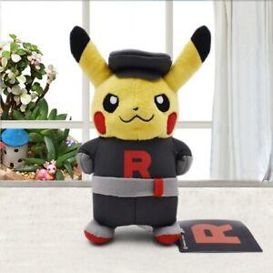FAST Team Rocket Cosplay Pikachu Cloak Plush Toy Stuffed Animal Cartoon Doll New