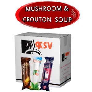 Mushroom with Croutons for 73mm In-Cup Vending Machines Drinks x300