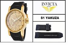 Black Silicone Rubber Watch Band Strap For Invicta S1 YAKUZA / DRAGON / NINJA