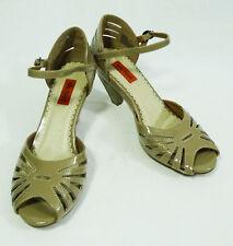 Miz Mooz Samosa Shiny Beige High Heeled Shoes size 6.5