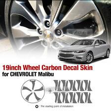 "Carbon Black Wheel Vinyl Decal Sticker 19"" 20P For CHEVROLET 2016 - 2018 Malibu"