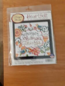"""Prayer Changes Things  Counted Cross Stitch Kit 10"""" x 10"""" 2793 new sealed"""