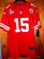 Brand New with Tags PATRICK MAHOMES Kansas City Chiefs Superbowl 54 Jersey, Sz L
