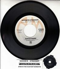 "SUPERTRAMP  Goodbye Stranger 7"" 45 rpm vinyl record RARE! + jukebox title strip"