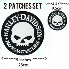 Harley Davidson Willie G Skull Patch (back emblem, reflective) SET OF 2