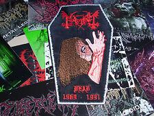 The True Mayhem Coffin Shape Patch Dead 1969-1991 Black Metal Hellhammer