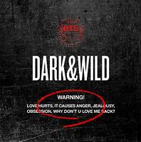 K-POP BTS 1st Album [DARK & WILD] CD + Photo Booklet + 2p Photocard Sealed