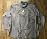 NWT Bills Khakis Mens Classic Fit Long Sleeve Plaid Button Front Shirt Size 2XL
