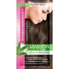 Buy 2 Get 1 Marion Hair Color Shampoo Lasting 4-8 Washes No Ammonia 53. Coffee Brown