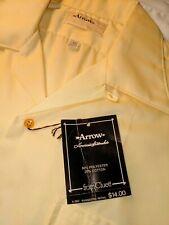 NOS VTG ARROW Yellow Loop Collar Short Sleeve Sport Shirt Size M-L 1960s 70s NWT