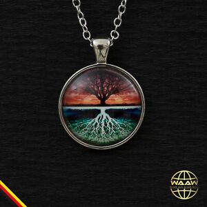 Halskette Lebensbaum Baum des Lebens Anhänger Silber Kette Schmuck Geschenkidee