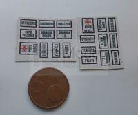 FERRMODEL 316 - Set scritte adesive per edifici di stazione FS. Scala H0