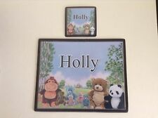 Personalised Placemat and Coaster Set - Cuddly Toys Design