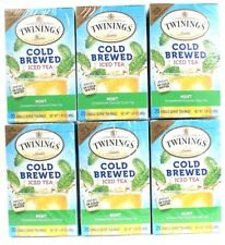 6 Boxes Twinings Of London 20 Ct Mint Cold Brew Iced Tea Bags Unsweetened