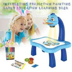Writing Board Painting Drawing Table Led Projector for Kids Children Education