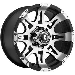 "17"" Inch Raceline 982 Raptor 17x9 6x5.5"" +0mm Black/Machined Wheel Rim"