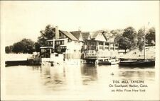 Tide Mill Tavern - Southport Harbor CT Real Photo Postcard